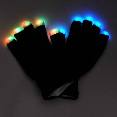 LED Gloves with Light Up Finger Tips - flashingo