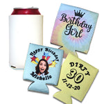 Custom Sublimated Can Coolers - Full Color Personalization - flashingo