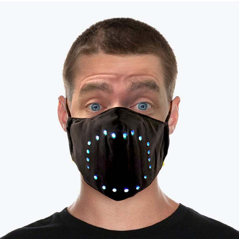 Sound Controlled LED Face Mask - flashingo