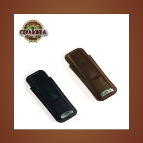 Leather 2 Cigar Case / Cutter