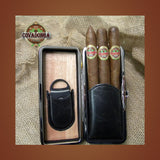 Leather 3 Cigar Folding Case Covadonga Cigars
