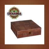Alligator Skin Humidor w/ 5 Cigar Package Covadonga Cigars