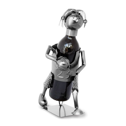 Basketball Player Metal Wine Caddy