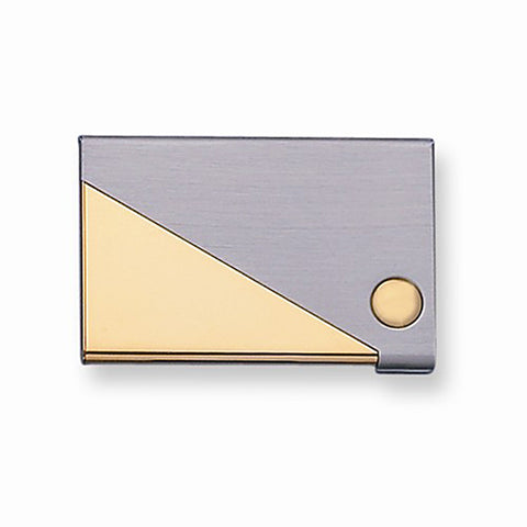 Brass Two-Tone Business Card Case