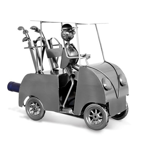 Golf Car Metal Wine Caddy