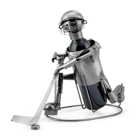 Ice Hockey Player Metal Wine Caddy