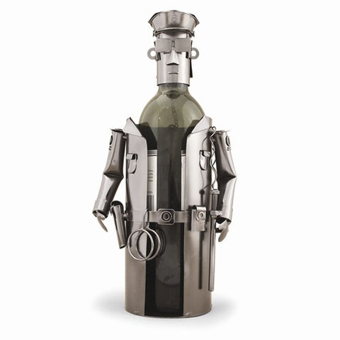 Policeman Metal Wine Caddy