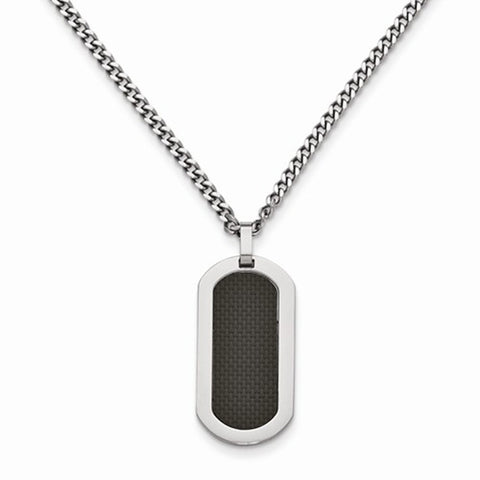 Titanium & Carbon Fiber Dog Tag
