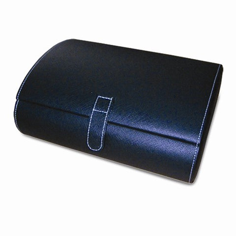 Black Faux Leather 10-Watch Case