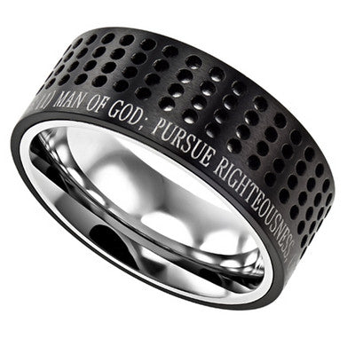Ring Sport Black - Man Of God Scripture