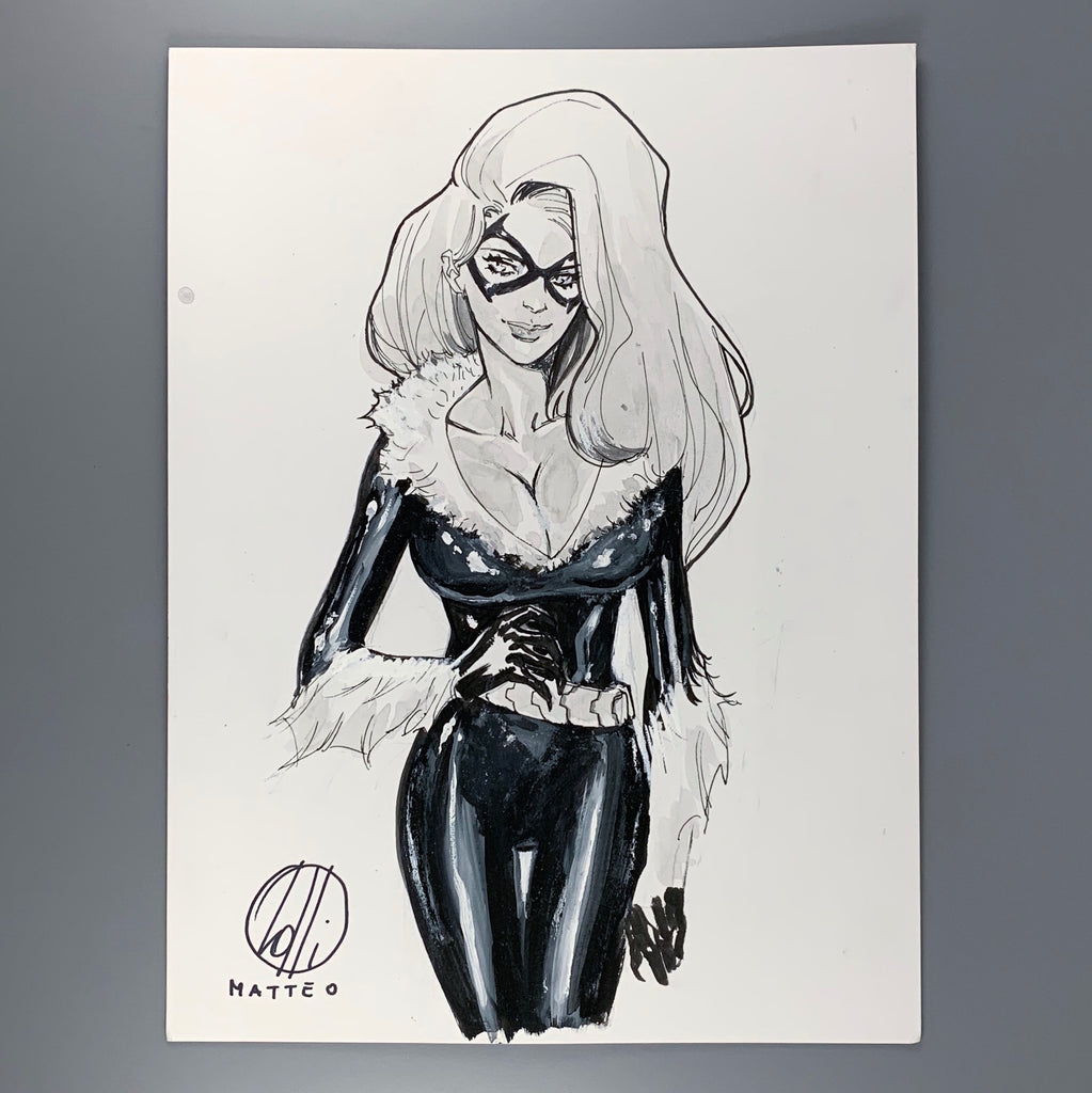 Black Cat - Matteo Lolli Original Art