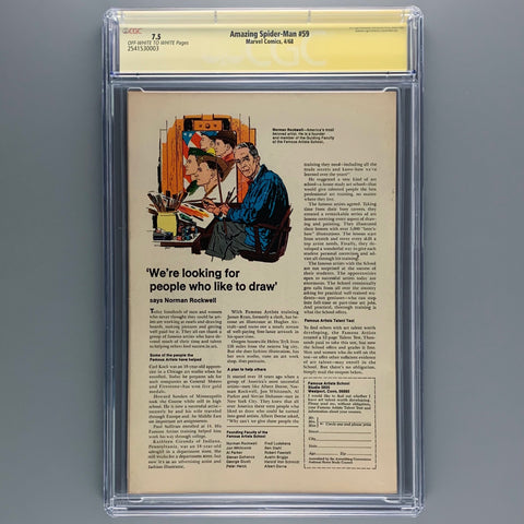 Amazing Spider-Man 59 - CGC 7.5 - Signature Series