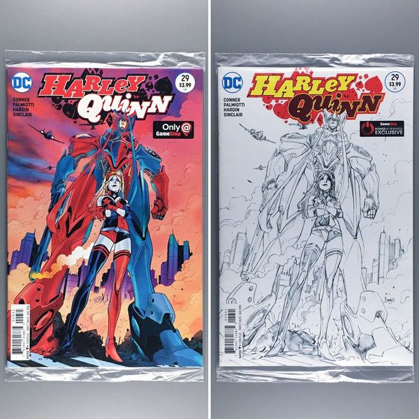 Harley Quinn 29 - Gamestop Color and Sketch Variant