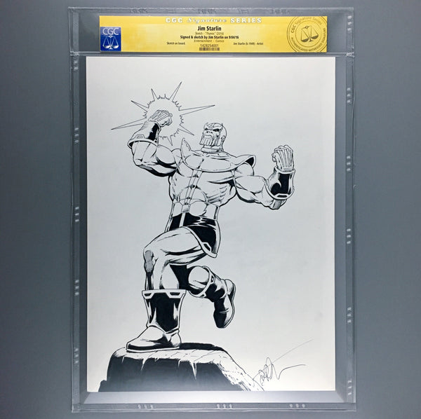 Thanos - Jim Starlin Original Art - CGC Signature Series