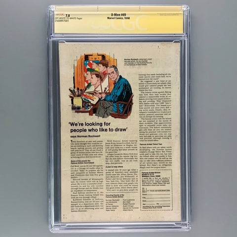 X-Men 49 - CGC 7.0 - Signature Series