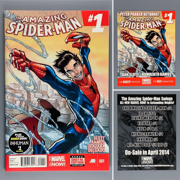 Amazing Spider-Man 1 with Promo Card