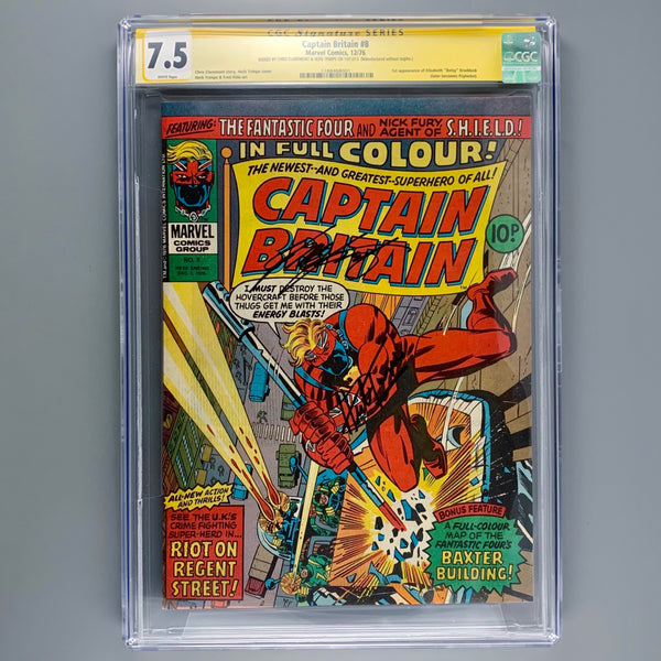Captain Britain 8 - CGC 7.5 - Signature Series
