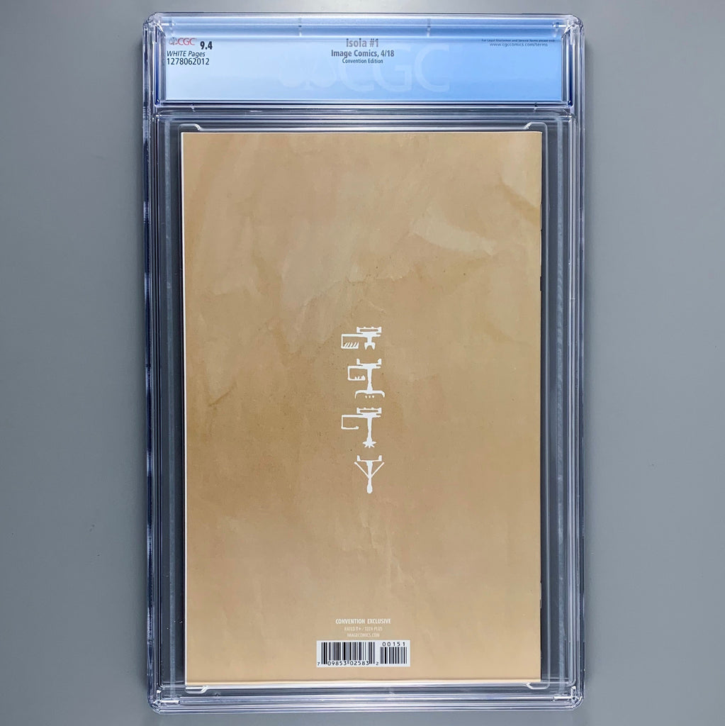 Isola 1 - CGC 9.4 - Convention variant
