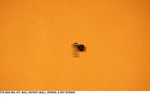 Kit, Ball Detent (Ball, Spring & Set Screw)