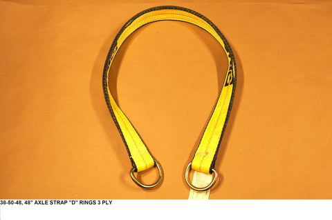 "48"" Axle Strap ""D"" Rings 3 Ply Wll3330"