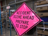 4848 ACCIDENT PINK SIGN