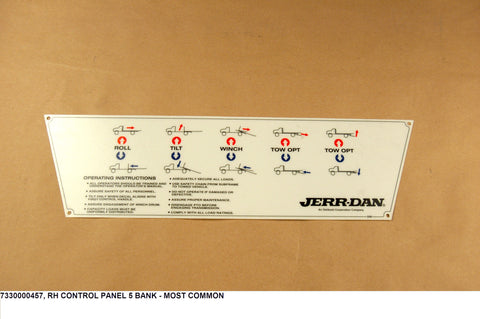 Rh Control Panel 5 Bank Decal