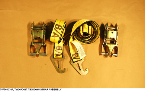 Two Point Tie Down Strap Assembly