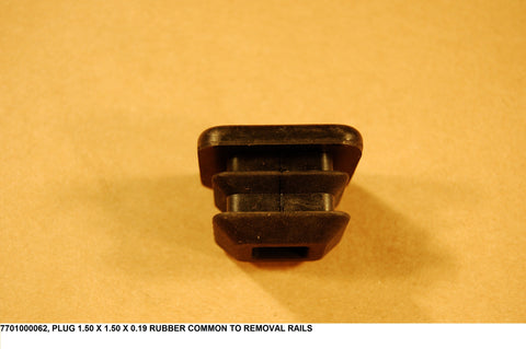 Plug 1.50 X 1.50 X 0.19 Rubber Common To Removal Rails