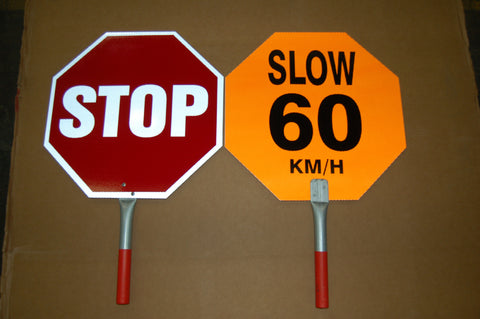 Hand Held Slow to 60 KM signs    PN: SST18-60