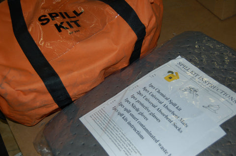 BARPEK SPILL KIT, REFILLABLE COMES WITH GLOVES CARRYING BAG
