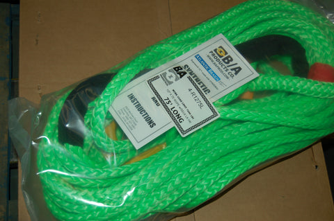 "1/2"" X 75 FEET SYNTHETIC ROPE WITH SELF LATCHING HOOK WLL 7600"