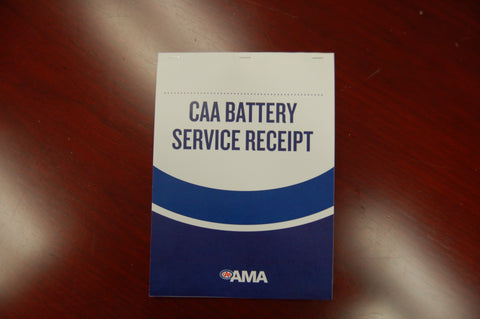 CAA Battery Service Receipts  PN: FM60965