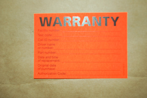 Battery Warranty Stickers