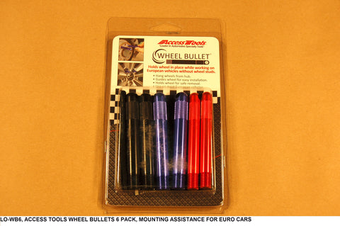 Wheel Bullets 6 Pack, Mounting Assistance For Euro Cars