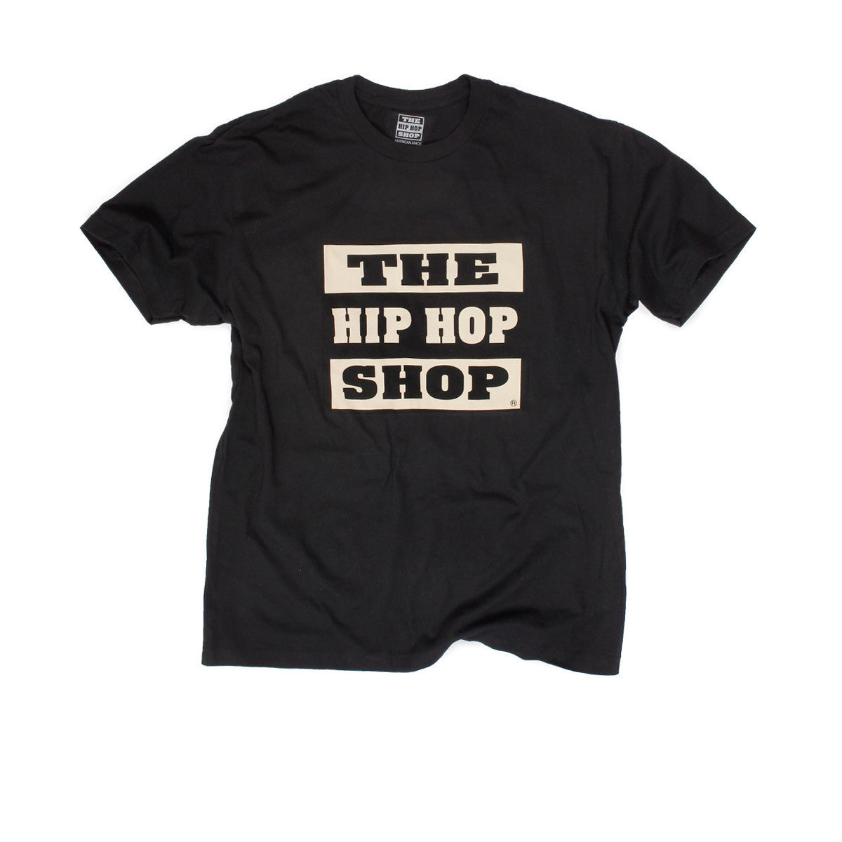 The Hip Hop Shop black logo t-shirt