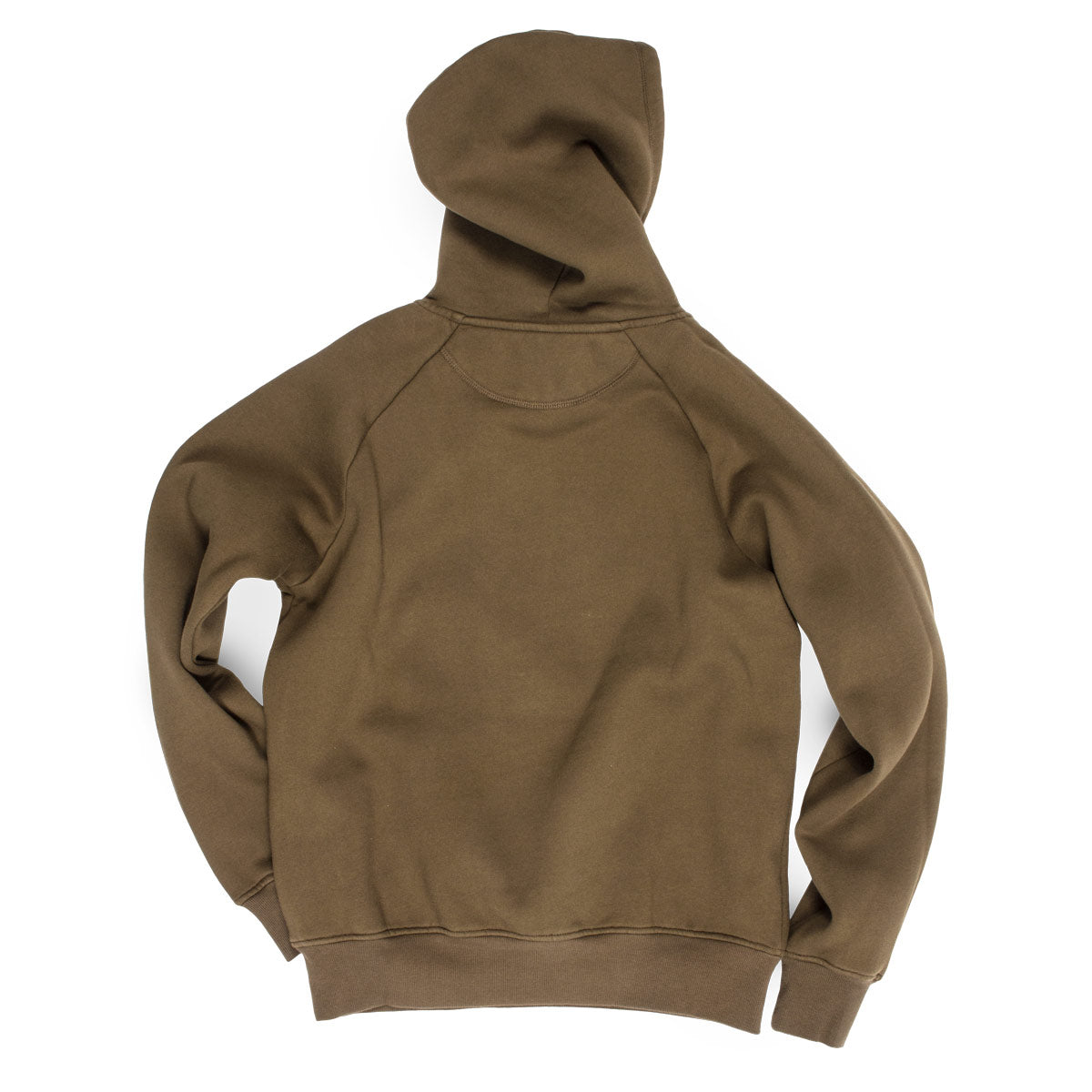The Hip Hop Shop classic logo military green hoodie rear