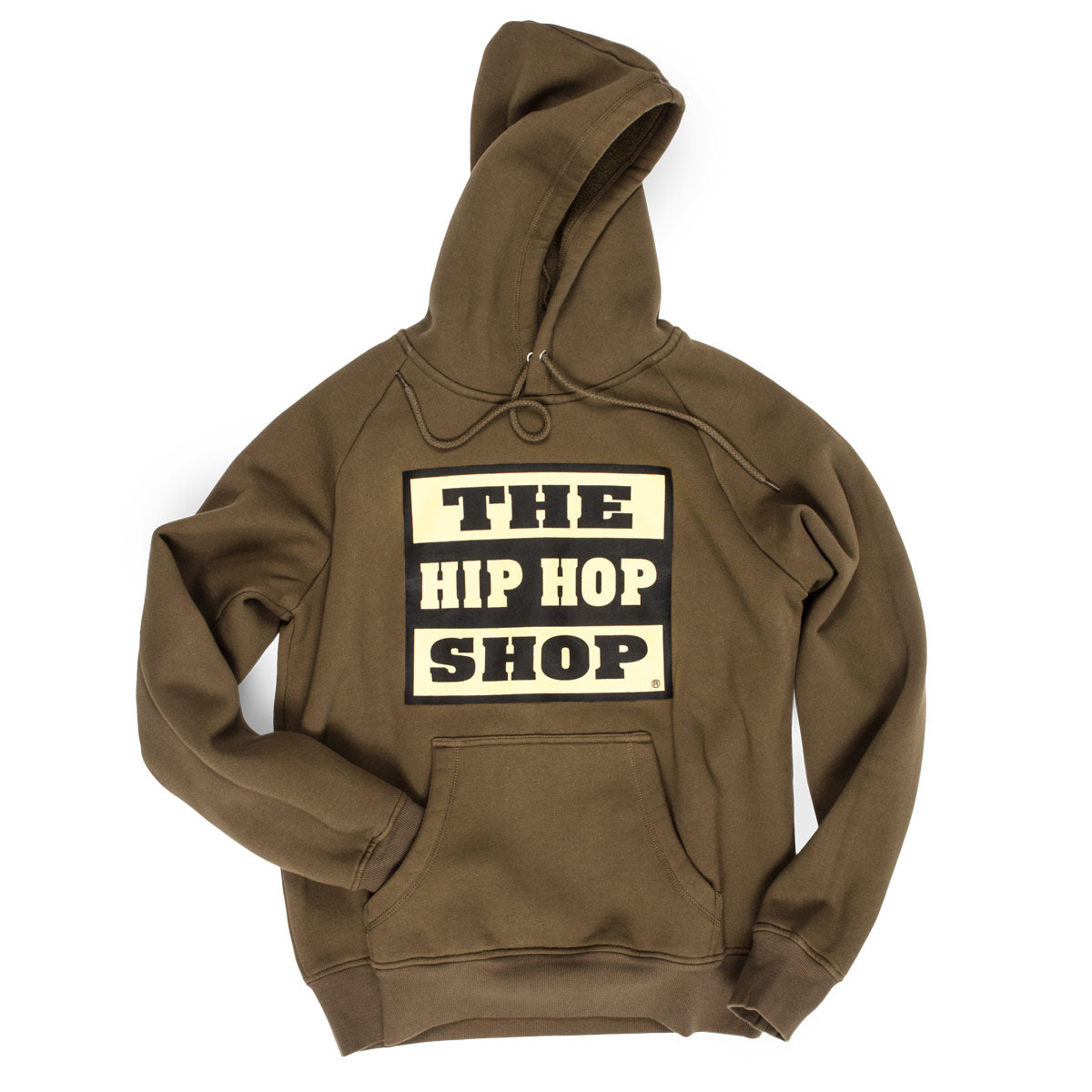 The Hip Hop Shop classic logo military green hoodie