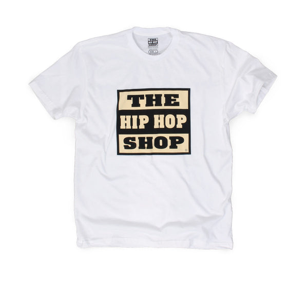 The Hip Hop Shop white logo t-shirt