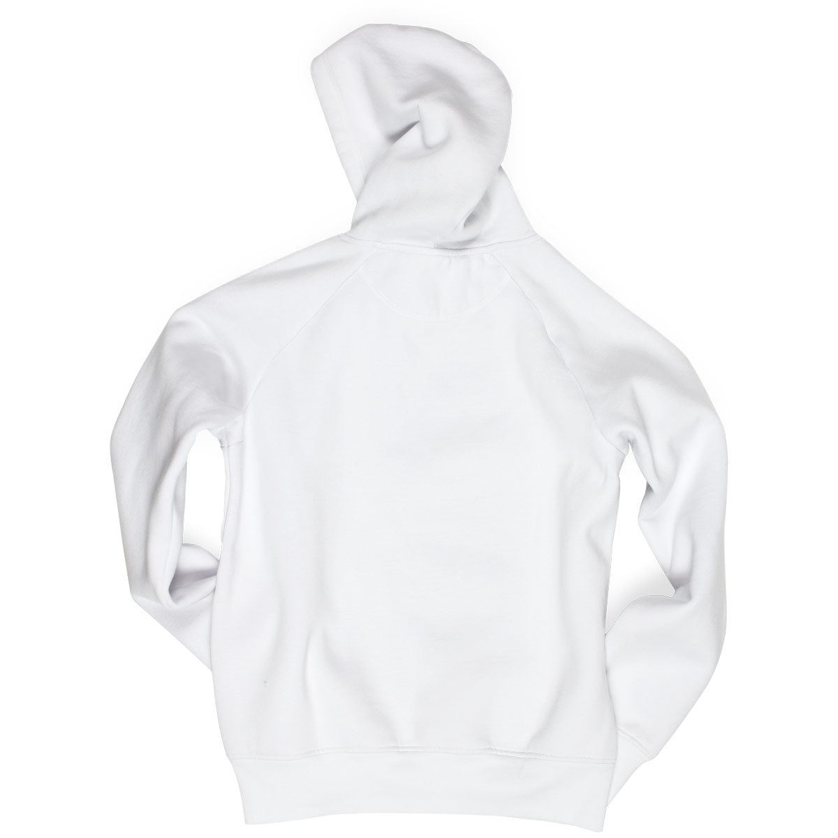 The Hip Hop Shop classic logo white hoodie rear