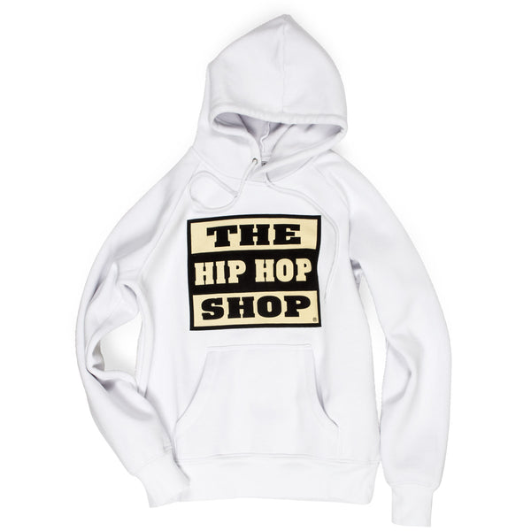The Hip Hop Shop classic logo white hoodie