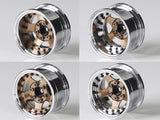 "BRPB001CRBZ  Boom Racing ProBuild™ 1.9"" SV5 Adjustable Offset Aluminum Beadlock Wheels (2) Chrome/Bronze"