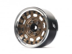 "BRPB002CRBZ Boom Racing ProBuild™ 1.9"" MAG-10 Adjustable Offset Aluminum Beadlock Wheels (2) Chrome/Bronze"