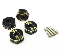 Treal Brass Hex Wheels Hubs Adaptors 6mm(4) pcs for Axial Capra UTB&SCX10 III