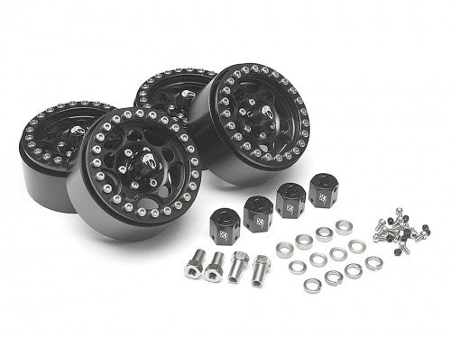 Sandstorm KRAIT™ 1.9 Aluminum Beadlock Wheels with 8mm Wideners (4) Black
