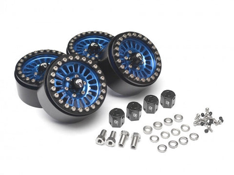 Venomous KRAIT™ 1.9 Aluminum Beadlock Wheels with 8mm Wideners (4) BLUE