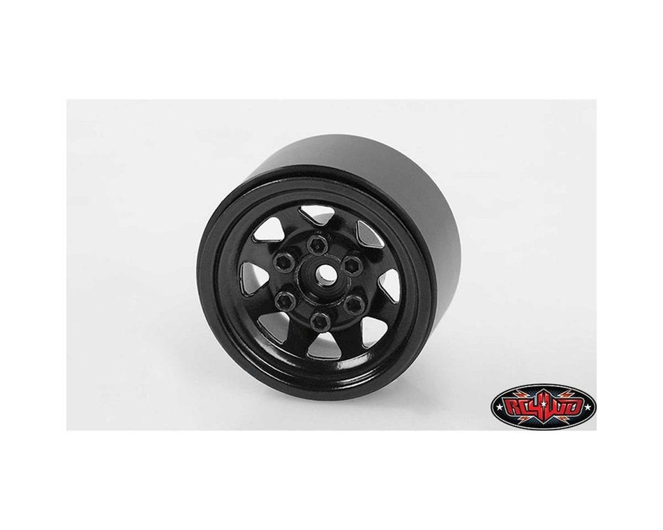 RC4ZW0029 RC4WD Stamped Steel 1.0 Stock Beadlock Wheel Black (4)