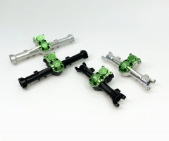 Treal Aluminum 7075 Front / Rear Axles Diff Housing for Axial SCX24 B-17 Betty Limited 1/24 4WD-RTR Green