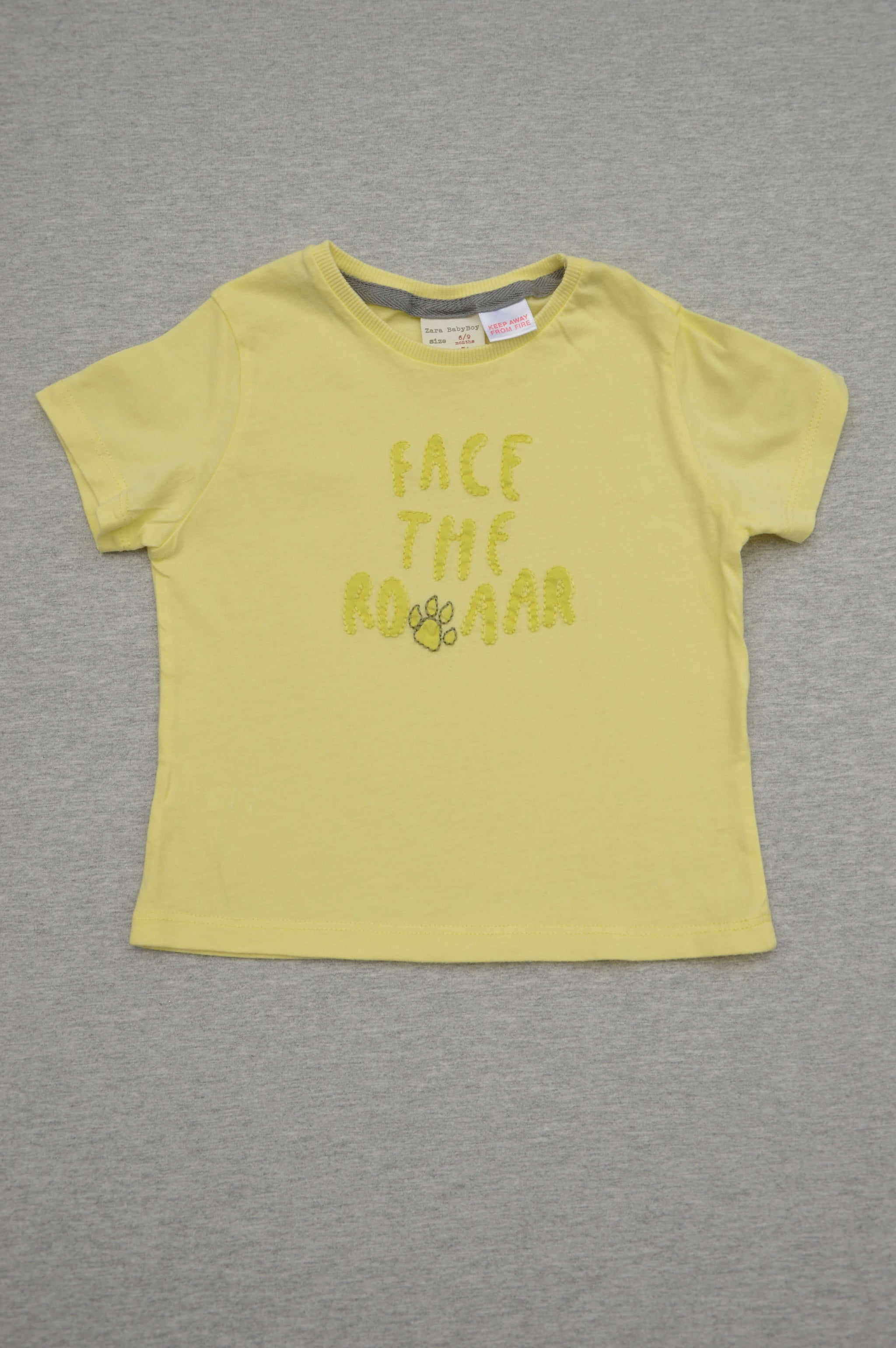 4bd527ee8e05f Zara - nearly new - yellow embroidered t-shirt