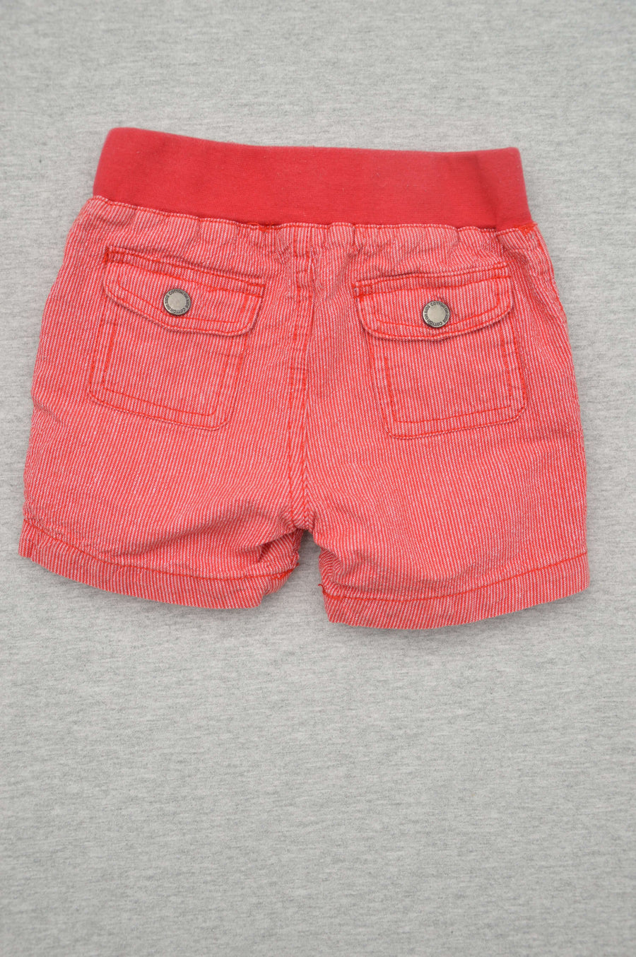 Cotton On red striped seersucker shorts, size 3-6m