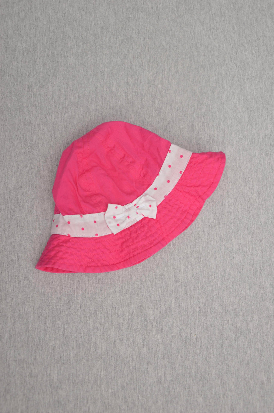 George - nearly new - pink bucket sunhat, size 0-3m